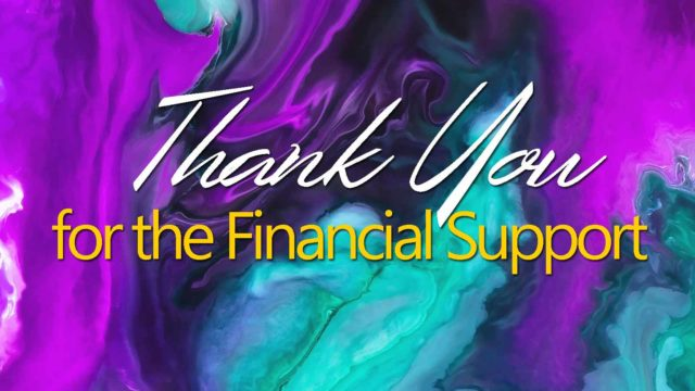 Thank You Financial Support Donors